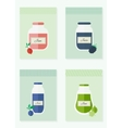 Jam and juice isolated cards in flat style vector image vector image