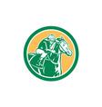 Jockey Horse Racing Circle Retro vector image vector image