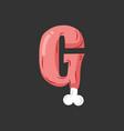 letter g meat font pork and bone alphabet sign vector image vector image