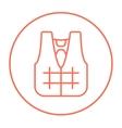 Life vest line icon vector image vector image