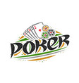 logo for poker vector image