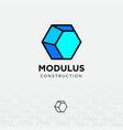 logo modulus flat architecture vector image
