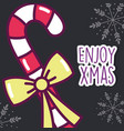 merry christmas celebration candy stick peppermint vector image vector image