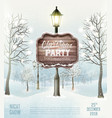 merry christmas party flyer background vector image vector image