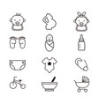 newborn and maternity icons set vector image vector image