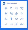 ocean icons vector image vector image
