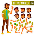 office worker indian face emotions vector image vector image