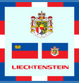official government ensigns of liechtenstein vector image vector image
