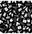 paint icons black and white seamless pattern eps10 vector image vector image