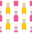 pattern with colorful luggage suitcases vector image vector image