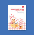 poster template with international day charity vector image vector image