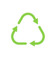 recycle symbol green color triangle shape vector image