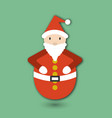 roly poly toy santa claus flat card for crictmas vector image vector image