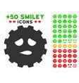 sad face smiley gear icon with bonus emotion vector image vector image