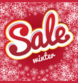 sale snowflake pattern vector image vector image