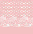 seamless lace horizontal fabric white flowers and vector image