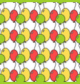seamless pattern with colored balloons festive vector image vector image