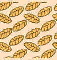 seamless pattern with fresh bread design element vector image vector image