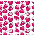 Seamless pattern with strawberries Hand-drawn vector image