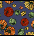 seamless pattern with tomatoes vector image vector image