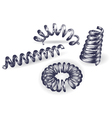 Set of 4 springs vector image vector image