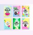 set of summer sale background design for banner vector image