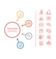 startup idea presentation vector image vector image