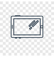 tablet concept linear icon isolated on vector image