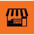 Tent shop icon vector image vector image