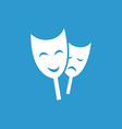 theater icon white on blue background vector image