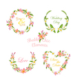 Tropical Wreath Set Tropical Flowers Floral Tags vector image vector image