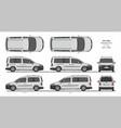 vw caddy passenger van l1 l2 2015-present vector image vector image