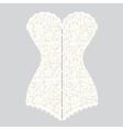 white lace corset corset vector image vector image