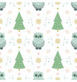 winter pattern with owl vector image