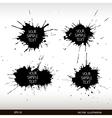 Set of grunge splashes Grunge background vector image