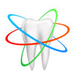 healthy tooth is protected vector image