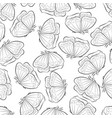 a beautiful butterfly flying seamless pattern vector image