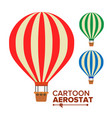 aerostat balloon vintage transport hot vector image