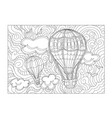 aerostat coloring page for kids and adult vector image