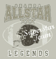 All star FootBall vector image vector image