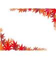autumn leaf frame 2 vector image vector image