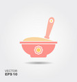 baby food icon vector image