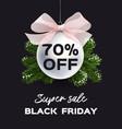 banner black friday sale flyer template vector image vector image