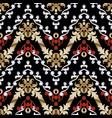 baroque seamless pattern vintage floral vector image vector image