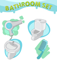 Bathroom Symbol icon set E vector image vector image