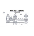 belarus - mir castle complex travel famous vector image vector image