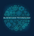 blockchain technology round blue line vector image vector image