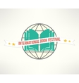 book festival sign and logo in simple and vector image vector image