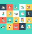 captivating pack travel icons vector image vector image