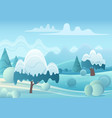 cartoon game landscape with vector image vector image